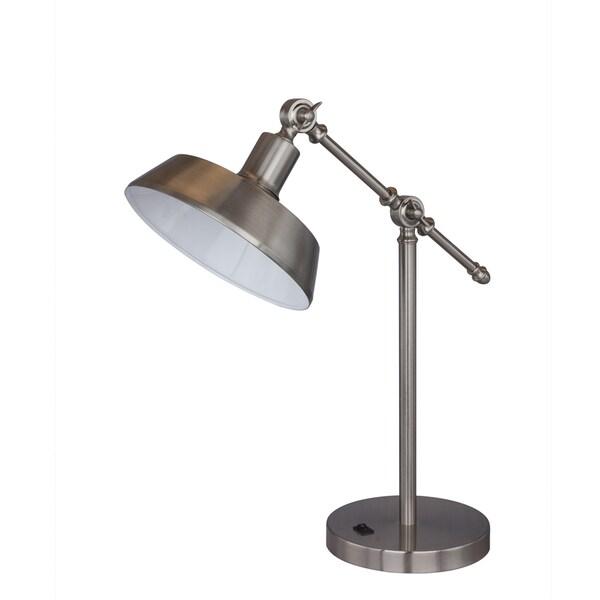 """18.5"""" Metal Task Lamp in Brushed Steel"""