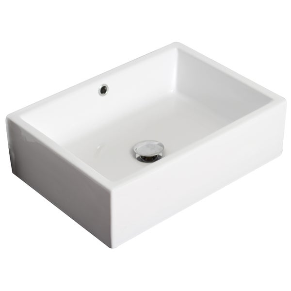 20 In W X 14 In D Above Counter Rectangle Vessel In