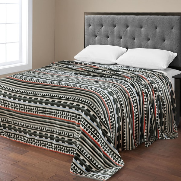Ultra Plush Micro-Fleece Aztec Printed Blanket