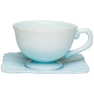 Countryside Whisper Blue Jumbo Cup / Saucer (Set of 4)