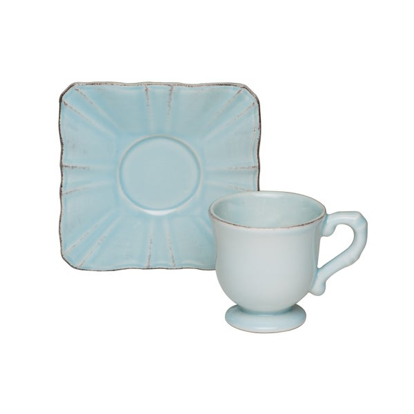 Countryside Whisper Blue Espresso Cup / Saucer (Set of 4)