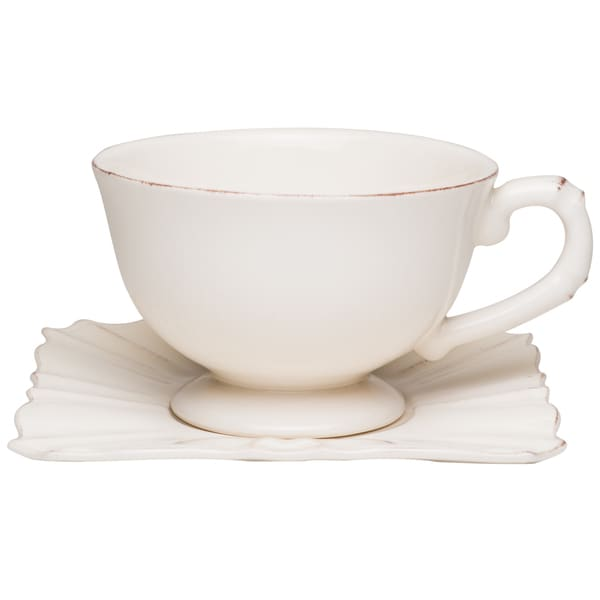 Countryside Cream Jumbo Cup / Saucer (Set of 4)