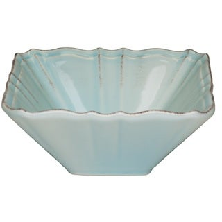 Countryside Whisper Blue Square 10.5-inch Salad Bowl (Set of 2)