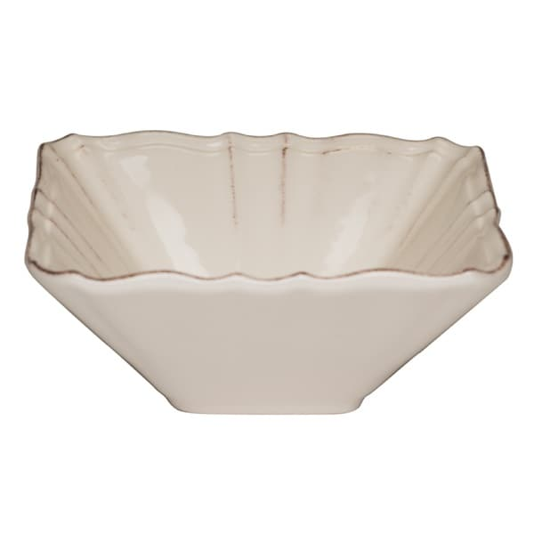 Countryside Cream Square 10.5-inch Salad Bowl (Set of 2)