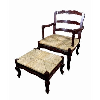 D-Art French Bonne Fenn Arm Chair and Ottoman (Indonesia)
