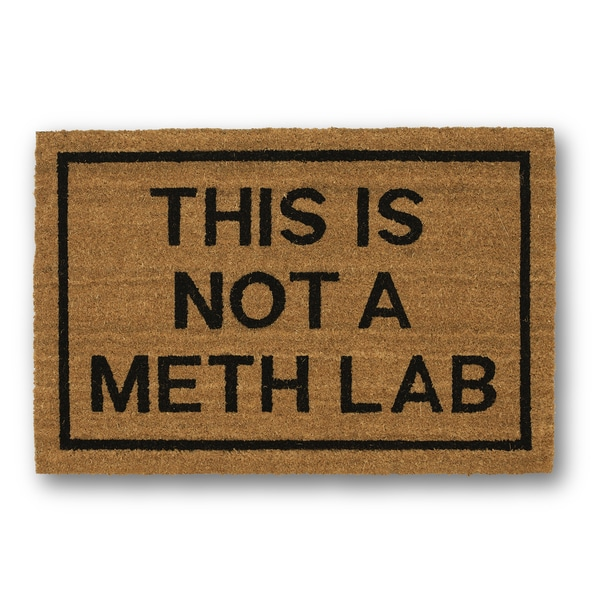 Clever Doormats This is Not a Meth Lab Coir Doormat (20in x30in)