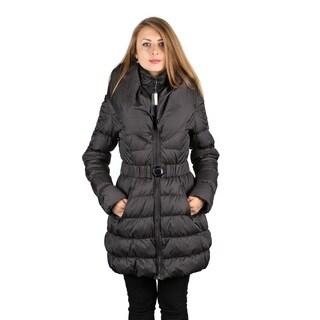 Dawn Levy Woman's Steel Gray Down Puffer Coat