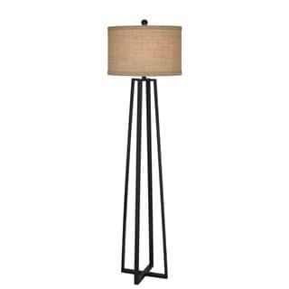 62 inch Black Molded Metal Floor Lamp