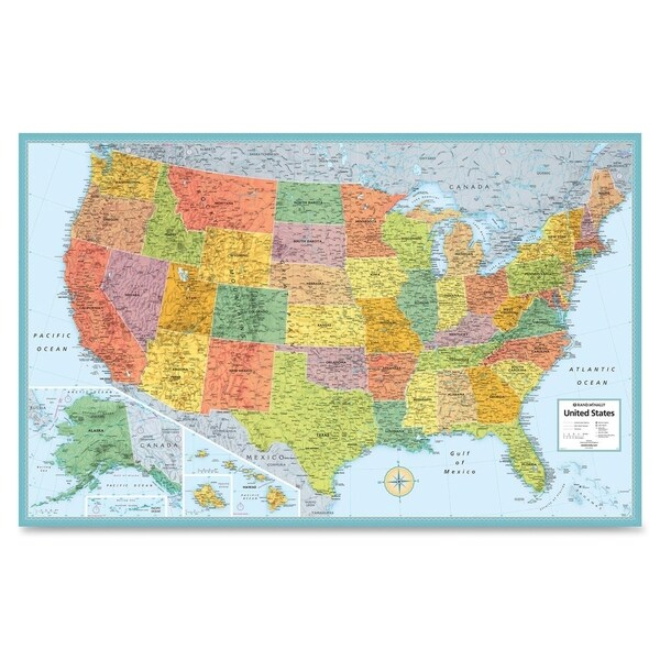"Rand McNally 50"" W x 32"" H United States of America Wall Map"