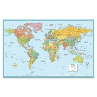 "Rand McNally 50"" W x 32"" H World Wall Map"
