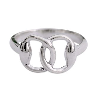 Handcrafted Sterling Silver 'Together' Ring (India)