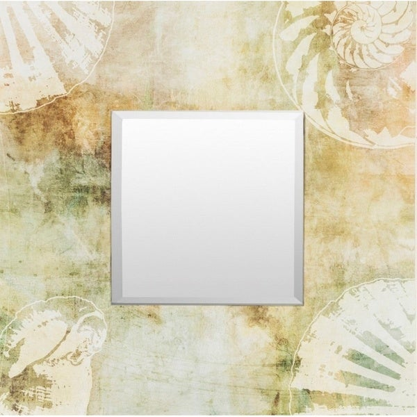 Oundle Wood Framed Small Size Square Wall Mirror