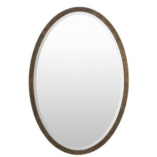 Barnet Wood Framed Small Size Oval Wall Mirror