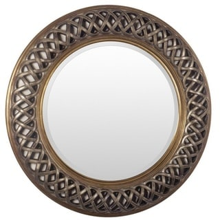 Faseny Wood/Resin Framed Large Size Round Wall Mirror