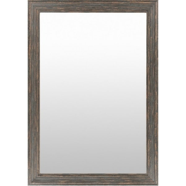 Oakham Wood Framed Large Size Rectangular Wall Mirror