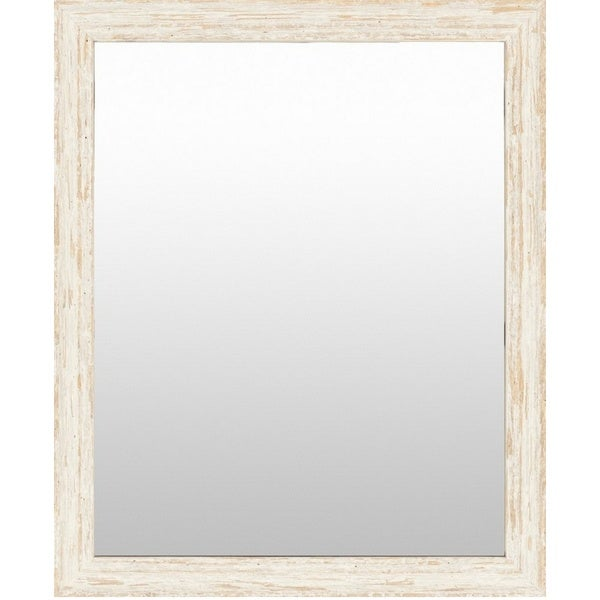 Brampton Wood Framed Small Size Rectangular Wall Mirror