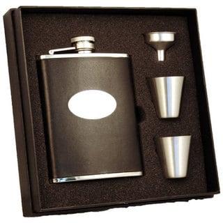 Visol Lance Black Supreme Flask Gift Set - 6 ounces 16713022