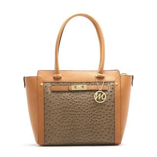 Emilie M. Karen Ostrich Tote Handbag