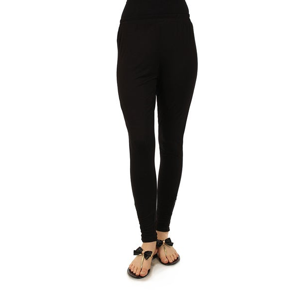 Firmiana Women's Plus Black Long Pants