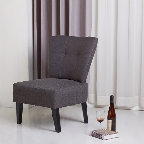 Maddie Charcoal Grey Accent Chair