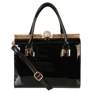Rimen & Co. Shiny Patent Doctor Handbag