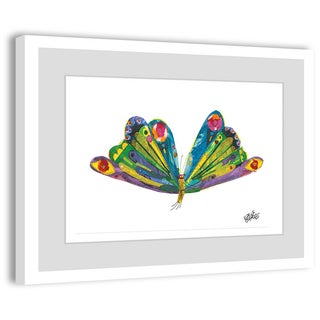 """Marmont Hill - """"Beautiful Wings"""" by Eric Carle Painting on Framed Print"""