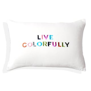 Embroidered Filled Hue Decorative Pillow