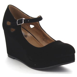 SODA TYLEE-2 Girl's Cut Out Mary Jane Wedges