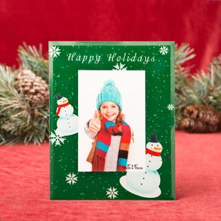 Happy Holidays Glass Picture Frame