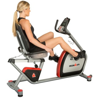 IRONMAN H-Class 410 Smart Technology Recumbent Bike with Bluetooth IRONSTRONG Apps and Air Soft Seat