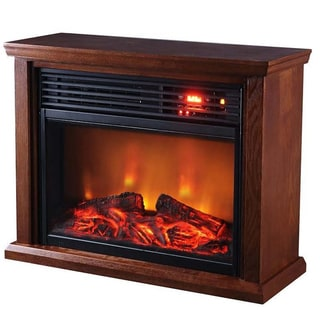 Thermal Wave by Sunheat TWFP1510 Dark Oak 1500-watt Electric Portable Infrared Fireplace with Remote Control