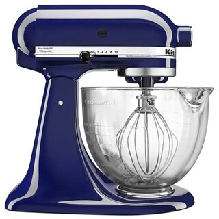 KitchenAid KSM105GBCBU Cobalt Blue 5-Quart Tilt-Head Stand Mixer