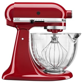 KitchenAid KSM105GBCER Empire Red 5-Quart Tilt-Head Stand Mixer
