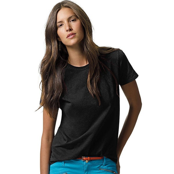 Hanes Women's Relaxed Fit Jersey ComfortSoft Crewneck T-Shirt (As Is Item)