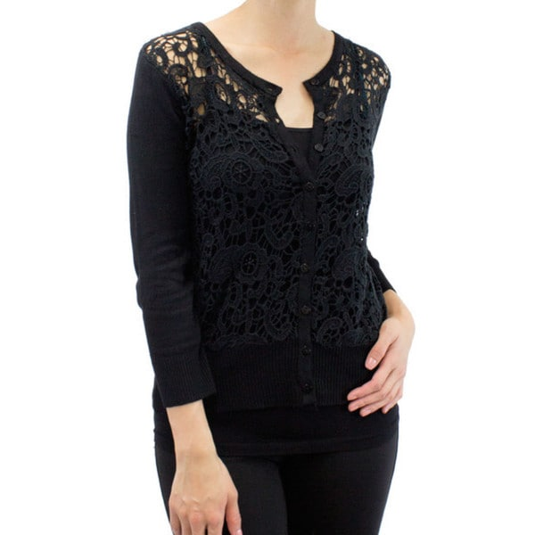 Women's Black Versailles Cardigan