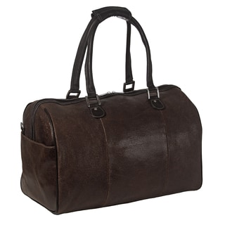 Piel Leather 17-inch Vintage Carry-On Satchel Duffel Bag