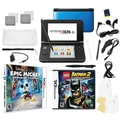 Nintendo 3DS XL Bundle with 2 Games and 17-in-1 Kit