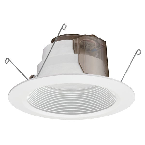 Lithonia Lighting P Series 6-inch Matte White 2700K LED Recessed Baffle Module
