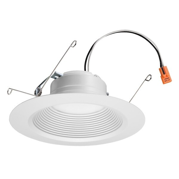 Lithonia Lighting E Series 5-inch/ 6-inch Matte White 2700K LED Recessed Baffle Module