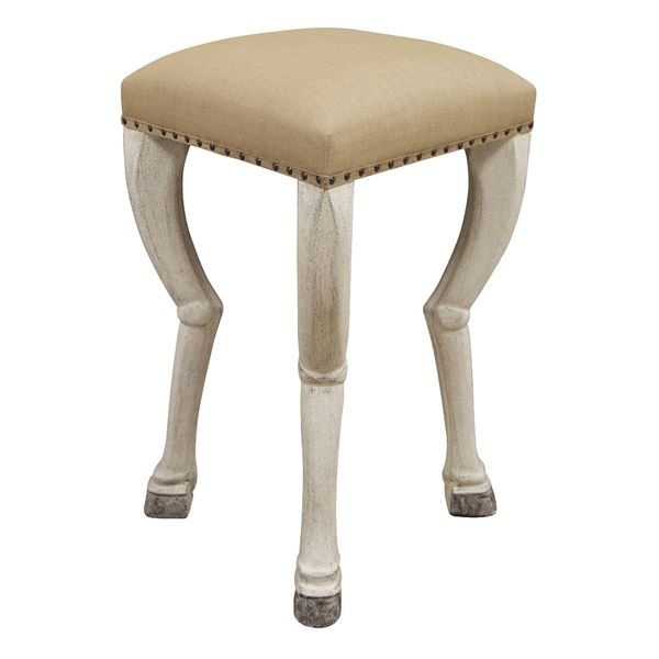 Clara Barstool, White Weathered