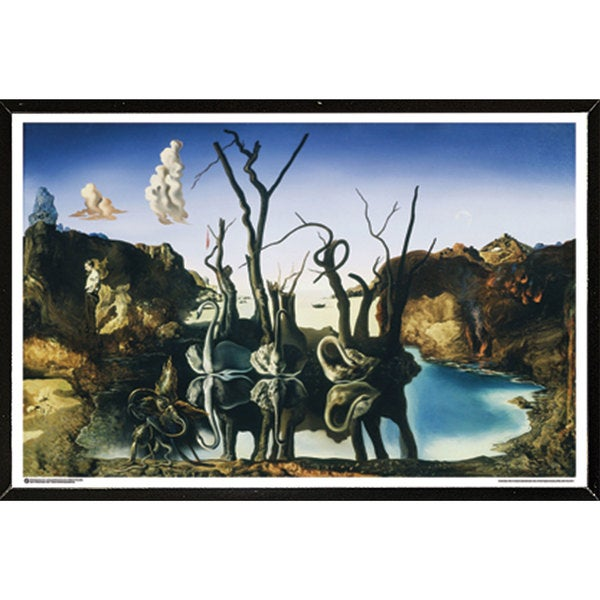Dali - Swans Reflecting Elephants Wall Plaque (24 x 36)