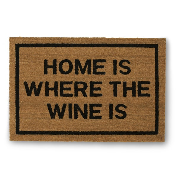 Clever Doormats Home is Where The Wine Is Coir Doormat (20in x30in)