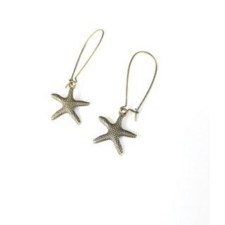 Pretty Little Style Bronze Starfish Dangle Earrings