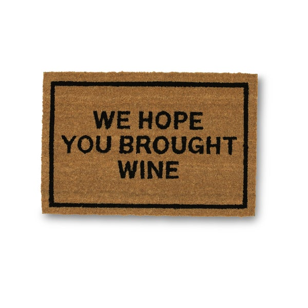 Clever Doormats We Hope You Brought Wine Coir Doormat (15.75in x23.6in)