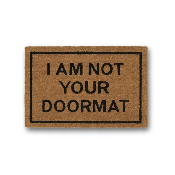 Clever Doormats I am Not Your Doormat Brown Coir Doormat (15.75in x23.6in)