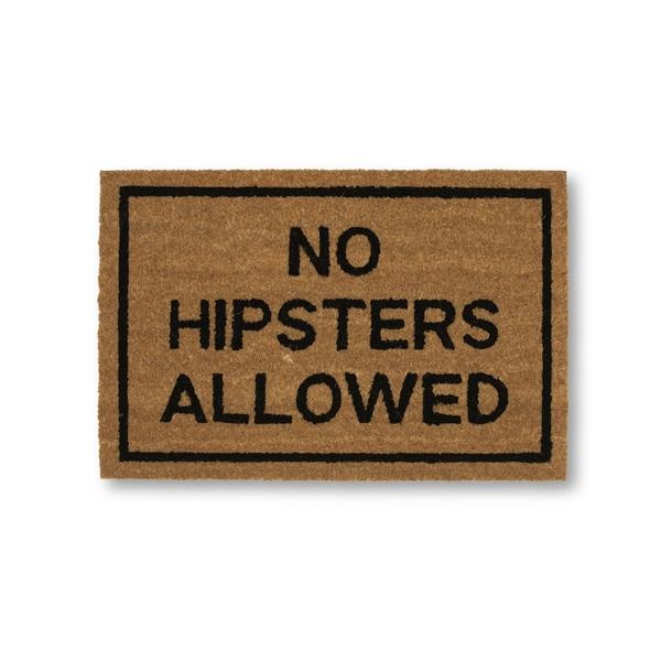 Clever Doormats No Hipsters Allowed Brown Coir Doormat (15.75in x23.6in)