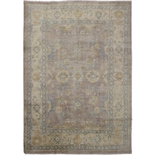 Indo Oushak Dalton Brown Hand-knotted Rug (10' x 13'9)