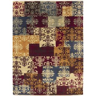 Modern Danyiar Multi Hand-knotted Rug (9' x 12')