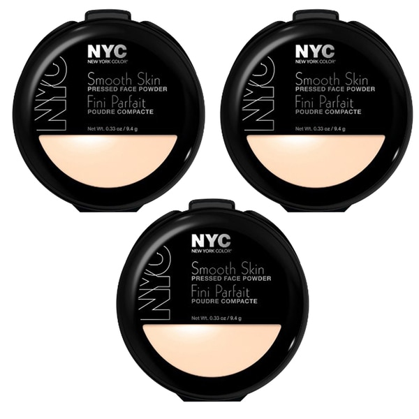 NYC Smooth Skin Pressed Translucent Face Powder (Pack of 3)