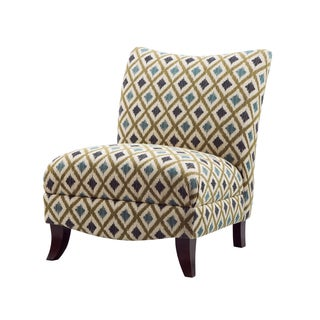 Tribecca Home Elko Swirl Print Armless Curved Back Accent